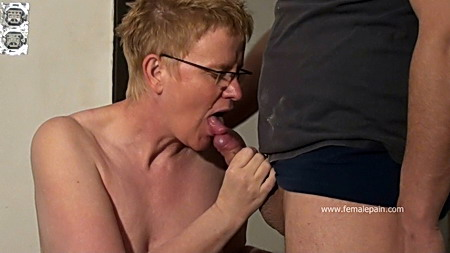 Dirty Slaves Spanked Blowjob